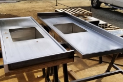 stainless countertops with sink