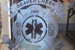 fire department emblem cut from steel