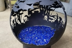 River Run Firepit Black with glass (1)