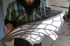 custom mirror metal art