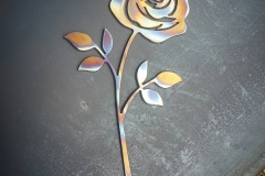 stainless torched rose