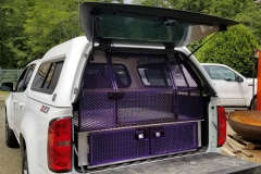 dog kennel for truck powder coated purple