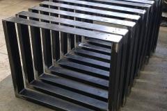 bench legs raw steel