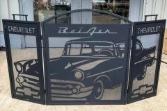 chevy bel air fireplace screen high heat black coating