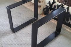 powder coated bench legs