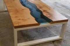 powder coated table base