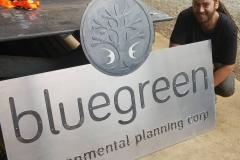 bluegreen sign