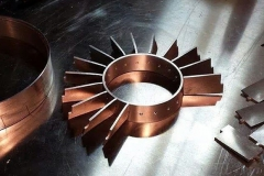 hand crafted aluminum fan blades
