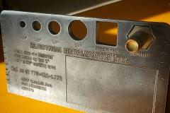 machined custom business card metal