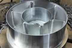 machining stators on fan