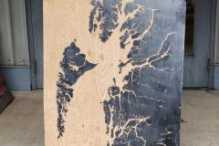North Coast and Haida Gwaii on plywood backing
