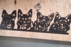 german shepherd silhouette metal art (1)