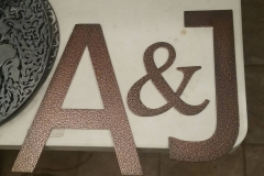 powder coated steel letters