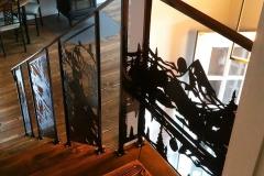 custom stair railing inserts metal powder coated (1)