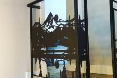 custom stair railing inserts metal powder coated (2)