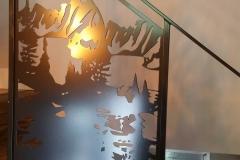 custom stair railing inserts metal powder coated (3)