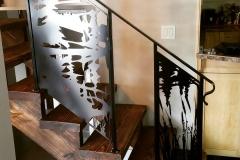 custom stair railing inserts metal powder coated (4)