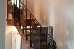custom stair railing inserts metal powder coated (5)