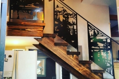custom stair railing inserts metal powder coated (6)