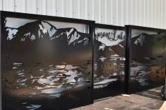 powder coated welded gate panels