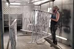 powder coating rebar railing