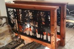 wood framed railing insert