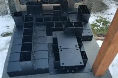 powder coated timberframe brackets