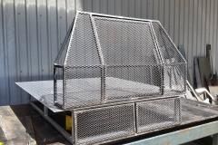 dog kennel welded raw steel