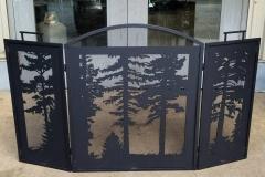 welded tree fireplace screen high heat black