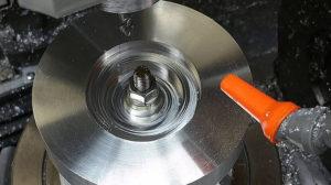 maching a flat piece of metal