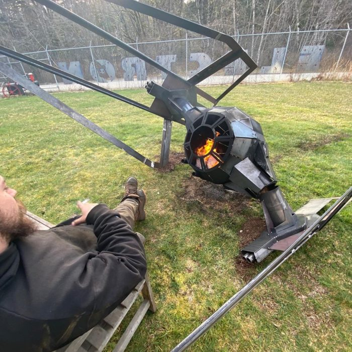 Fire pit - Helicopter