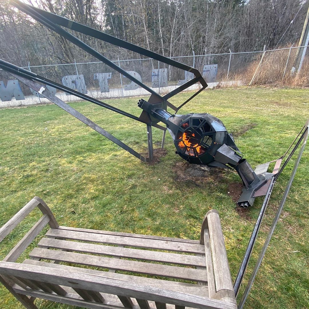 Fire pit - Helicopter rotor