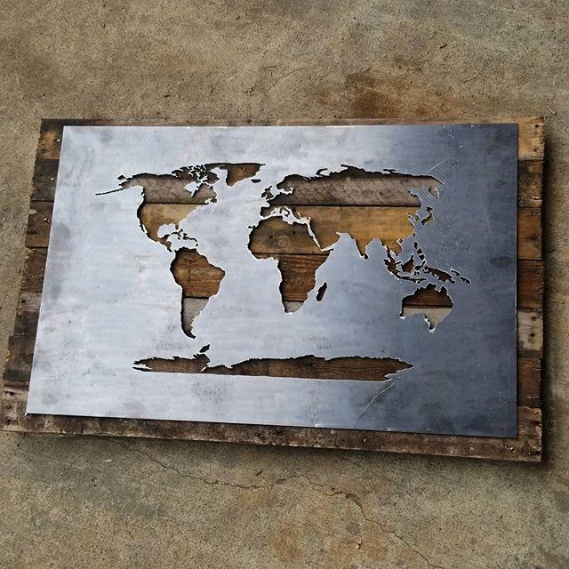 DIY World Map Stencil