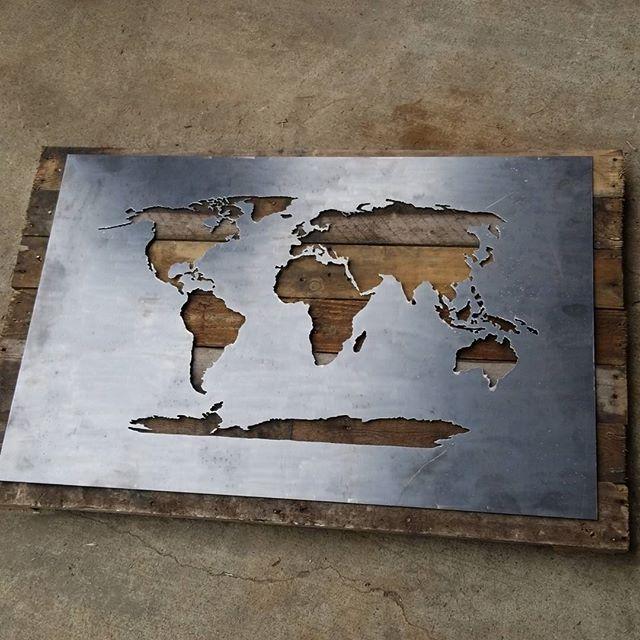 DIY World Map Stencil on
