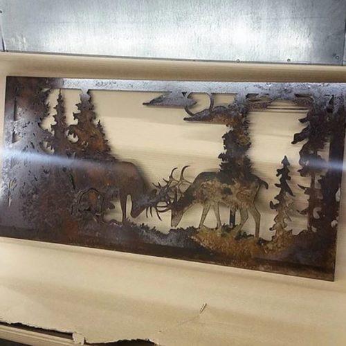 Electron Metalworks LTD. - Elk With Mountain